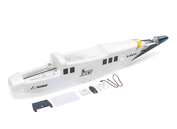Avios BushMule - Fuselage Set w/Stickers and LEDs (Yellow/Grey)
