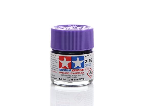 Tamiya X-16 Gloss Purple Mini Acrylic Paint (10ml)