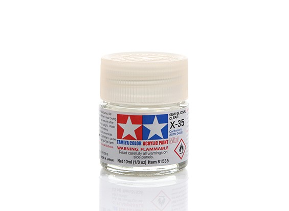 Tamiya X-35 Semi-Gloss Clear Mini Acrylic Paint (10ml)
