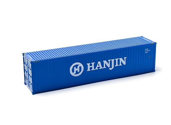 HO Scale 40ft Shipping Container (HANJIN) side view