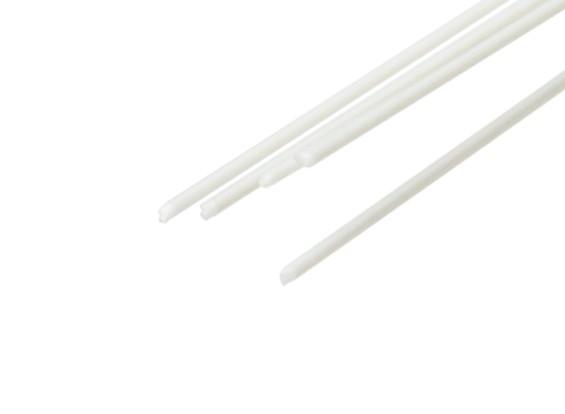 ABS Round Rod 0.5mm x 500mm White (Qty 5)