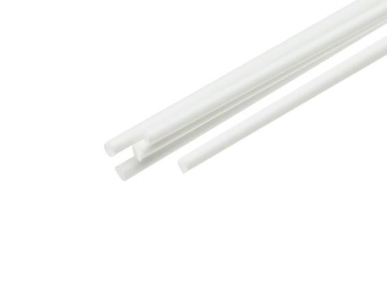 ABS Round Rod 1.5mm x 500mm White (Qty 5)