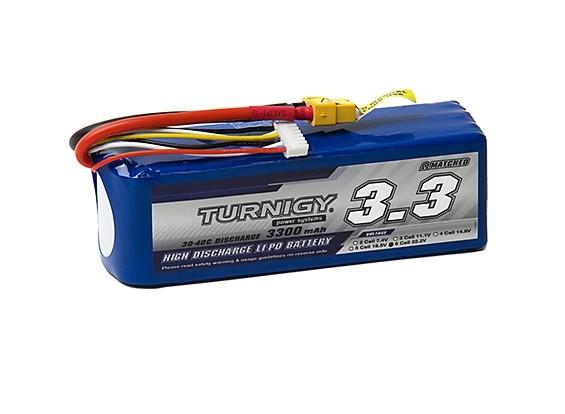 Turnigy 3300mAh 6S 30C Lipo Pack w/XT-60