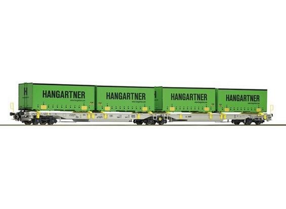 Roco HO Articulated Double Pocket Wagon AAE AG (Hanggartner)
