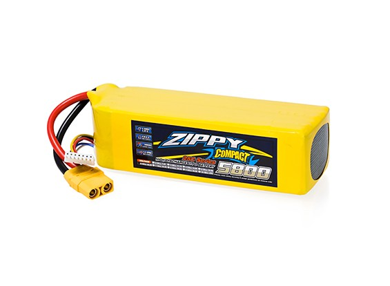 ZIPPY Compact 5800mAh 6S 25C Lipo Pack With XT90