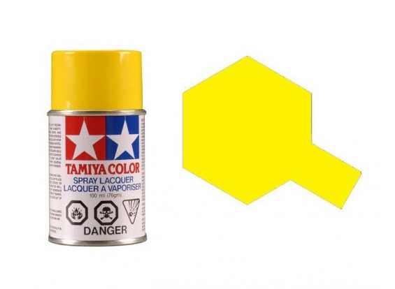 Tamiya Color Paints for Polycarbonate PS-6 Yellow Spray Paint (100ml)