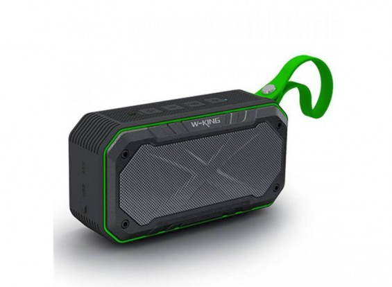 W-King S18 Waterproof Portable Intelligent Bluetooth Speaker With Calls/ FM Radio / AUX - GREEN