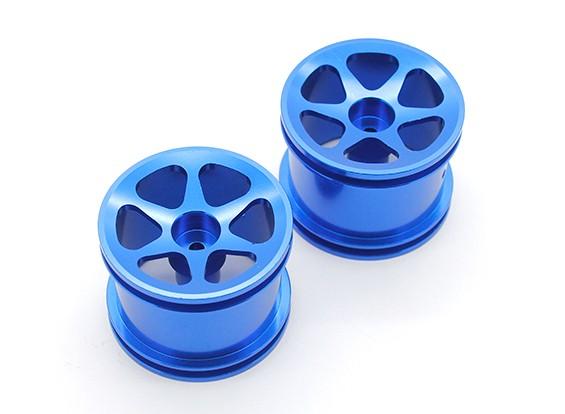 SCRATCH/DENT - GPM Racing Associated RC18T Alloy Std Sinkage Surface Rims (6 Poles) (Blue) (1pr)