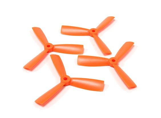 ダイヤトーンブルノーズポリカーボネート3ブレードプロペラ4045(CW / CCW)(オレンジ)(2ペア)