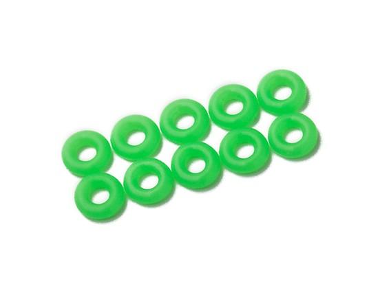 Oリングキット3ミリメートル(ネオングリーン)(10個入り/袋)