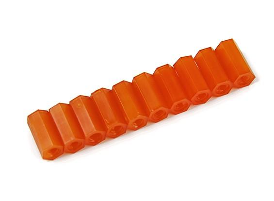 12ミリメートルF / F M3スペーサーX10  - オレンジ