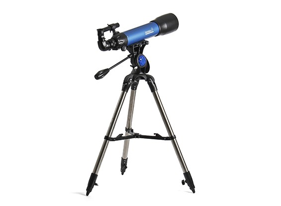 望遠鏡経緯台、スター注視&地上観測。
