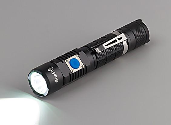 2つのスイッチの懐中電灯(フラッシュライト充電ケーブル、ハンドストラップホワイトボックス)