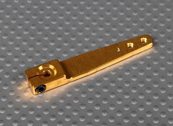 CNCヘビーデューティ1.75inアルミサーボアーム -  JR(ゴールド)