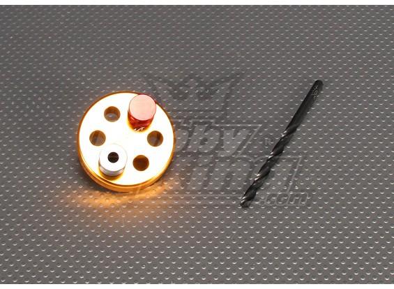 CNCドリルジグSet_6M(ドリル:5.1ミリメートル)ゴールド