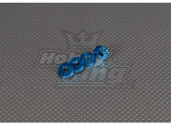 CNCインチスタンドオフ5ミリメートル(M6,1 / 4 20)ブルー