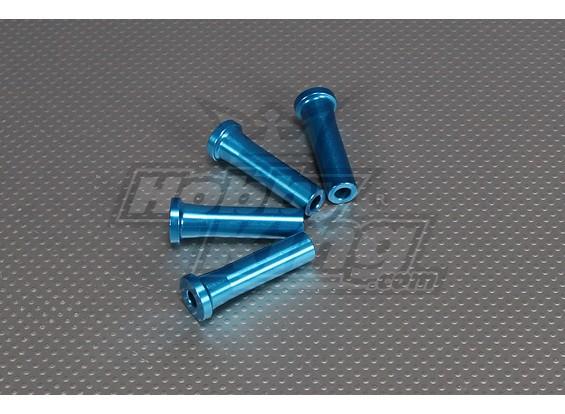 CNCインチスタンドオフ50ミリメートル(M6,1 / 4 20)ブルー
