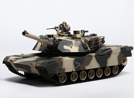 M1A2エイブラムスRC戦車RTRのTx /サウンド/赤外線/(アーバン)ワット