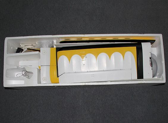 SCRATCH / DENTピッツ12 EPO 1600ミリメートルワット/ブラシレスモーター&サーボ(ARF)(イエロー/ブラック)