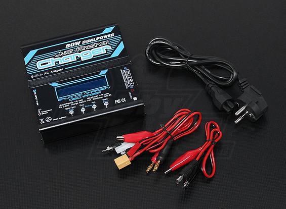 ちょうど別の充電器80W 6A 2〜6Sのバランス充電器ワット/ PSU
