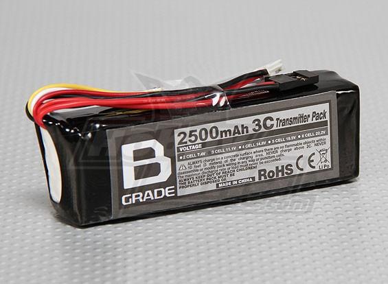 Bグレード2500mAh 3S 3Cトランスミッタパック(フタバ/ JR)