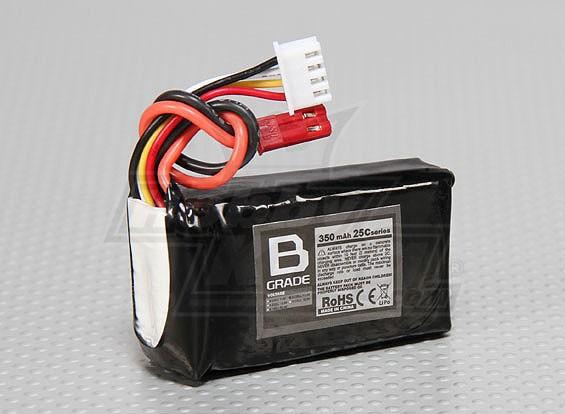 Bグレード350mAh 3S 25C Lipolyバッテリー