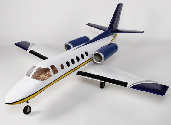 ビジネスジェット550ツイン90ミリメートルEDFコンポジット1775ミリメートル(ARF)