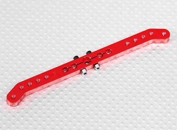 ヘビーデューティ合金4.6inプルプルサーボアーム - 双葉(レッド)