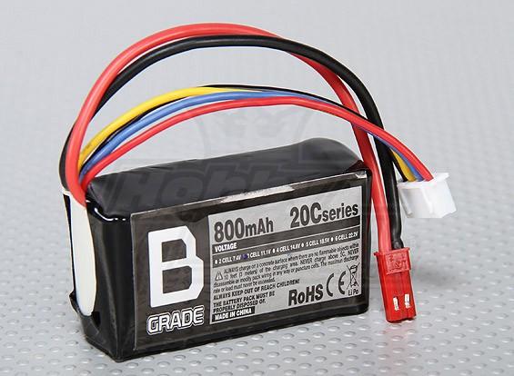 Bグレードの800mAh 3S 20C Lipolyバッテリー