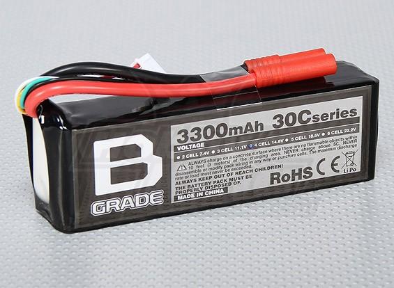 Bグレード3300mAh 4S 30C Lipolyバッテリー