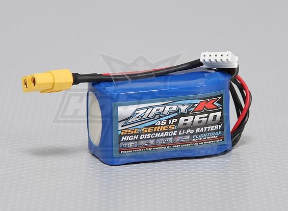ジッピー-K Flightmax 860mAh 4S1P 25C Lipolyバッテリー
