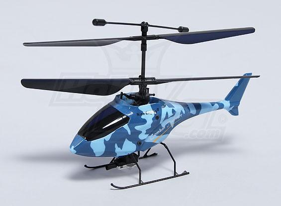 戦闘ツイスター極細同軸戦闘ヘリコプター - ブルー(RTF)