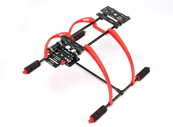 軽量FPV多機能マルチローターのための190ミリメートル高ランディングギアセット(レッド/ブラック)