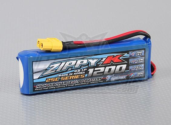 ジッピー-K Flightmaxの1200mAh 4S1P 25C Lipolyバッテリー