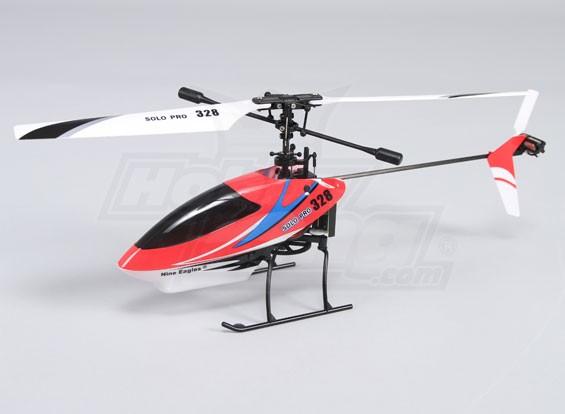 ソロプロ328 4CH固定ピッチのヘリコプター - レッド(RTF)米国のプラグイン