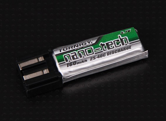 Turnigyナノテクノロジー160mah 1S 25〜40Cリポパック(整列トレックス100に適合)