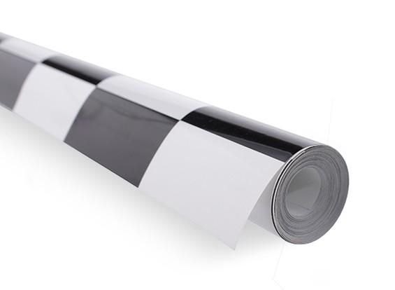 カバーリングフィルム大きなパターングリル-ワークブラック/ホワイト(5mtr)