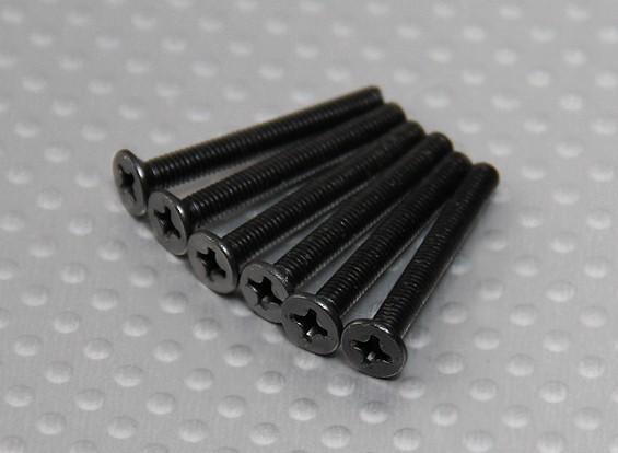フラットネジ(ISO3x25mm) -  Turnigyタイタン1/5とサンダー1/5(6PCS /袋)