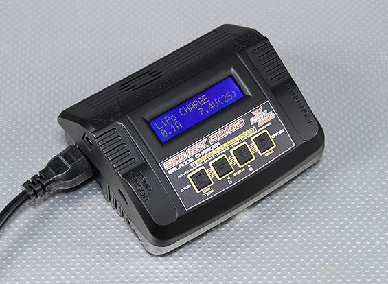 Hobbyking ECO / PSUワットSIX 80W 6A 2〜6Sバッテリーのバランス充電器AC / DC