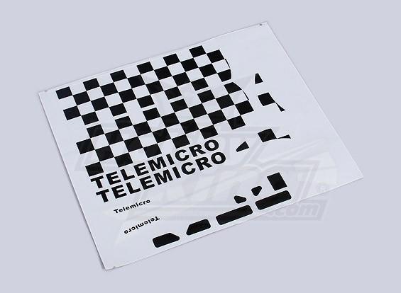 Telemicro 520ミリメートル - 交換用デカールセット