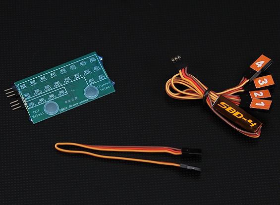 SBD4 4チャンネルS.BUSデコーダとプログラムカードコンボ