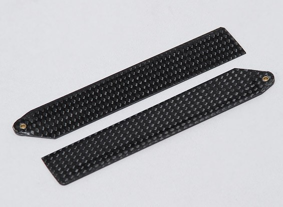 MCPX用カーボンファイバーメインブレード110ミリメートル(1ペア)