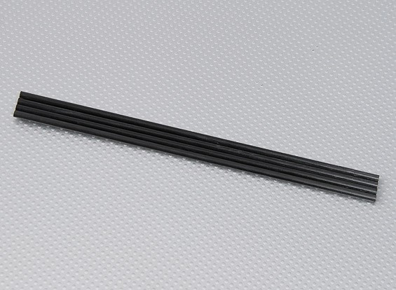 Turnigy HAL炭素繊維垂直着陸スキッドロッド5ミリメートルののx 250ミリメートル(4個/袋)