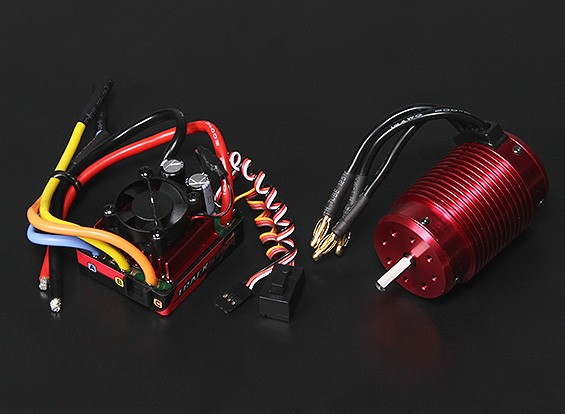 Turnigy TrackStar防水1/8ブラシレスパワーシステム2100KV / 120A