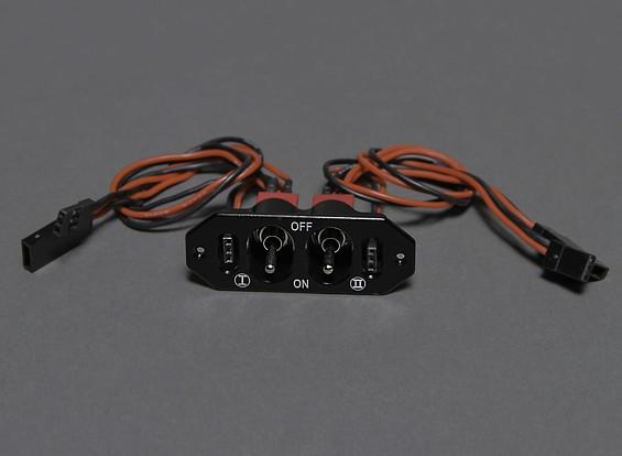 デュアル充電/電圧チェックポートを備えたデュアルRX / CDI電源スイッチ