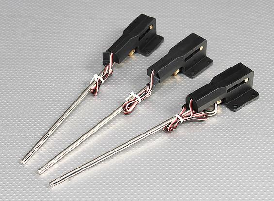 0.46 Servolessリトラクタブルランディングギアメタルトラニオン/ワット - オプションを修正/ステアリング/ 90度回転させて