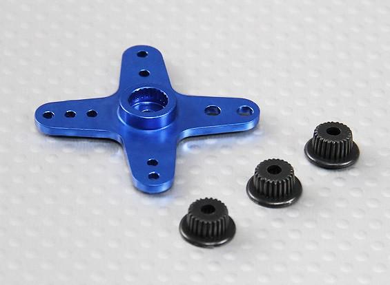 アルミクロスユニバーサルサーボアーム -  JR、双葉&HITEC(ブルー)