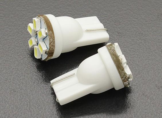 LEDコーンライト12V 0.9W(6 LED) - ホワイト(2個)
