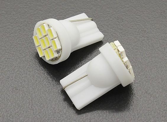 LEDコーンライト12V 1.5W(10 LED) - ホワイト(2個)