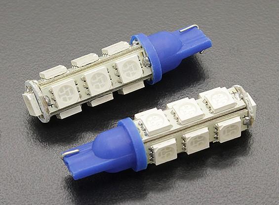 LEDコーンライト12V 2.6W(13 LED) - ブルー(2個)